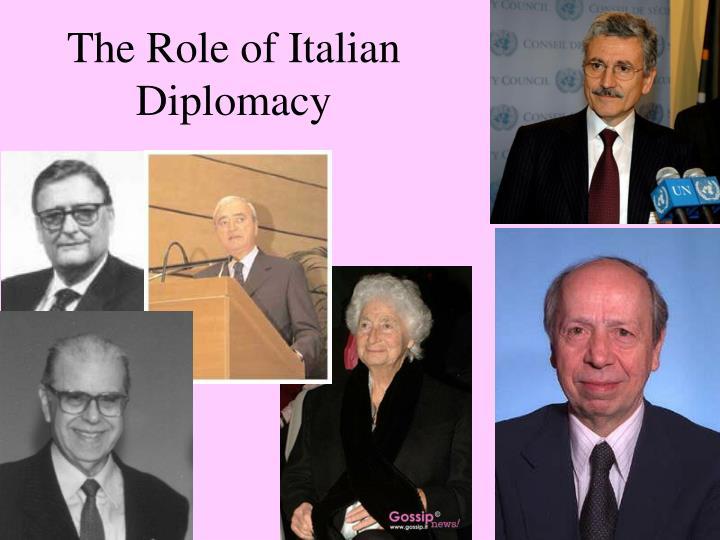 The Role of Italian