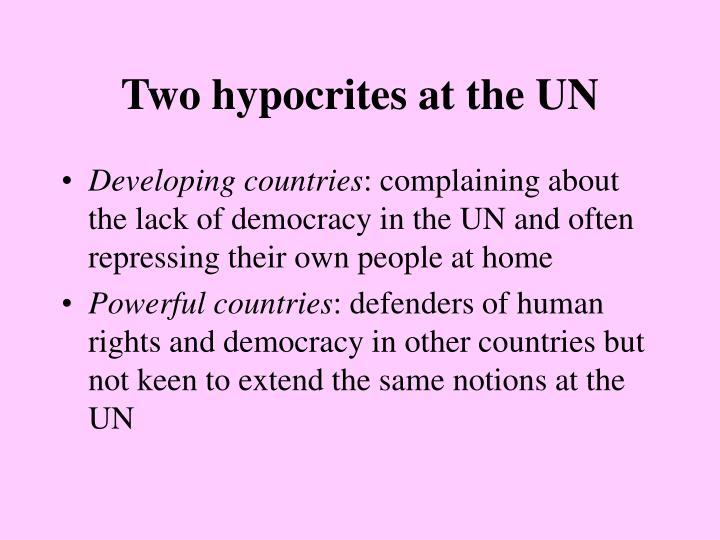 Two hypocrites at the UN