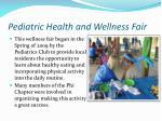 pediatric health and wellness fair