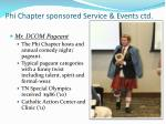 phi chapter sponsored service events ctd