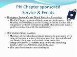 phi chapter sponsored service events