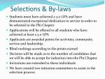 selections by laws