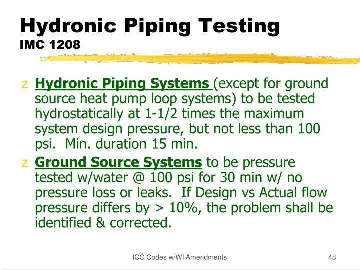 Hydronic Piping Testing