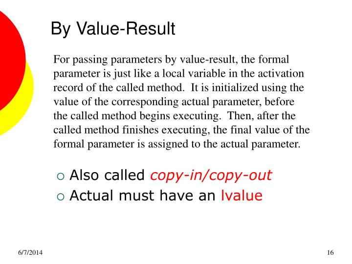 By Value-Result