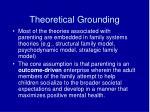 theoretical grounding