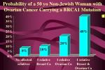 probability of a 50 yo non jewish woman with ovarian cancer carrying a brca1 mutation