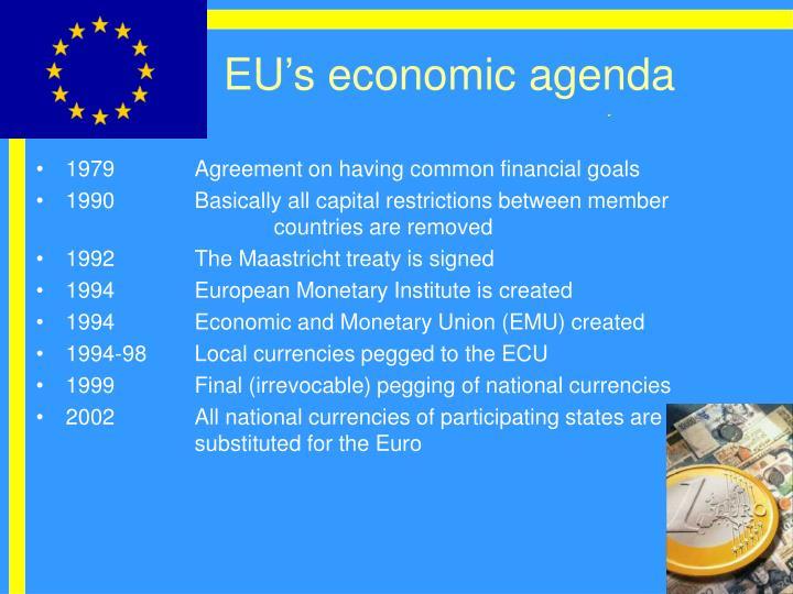 EU's economic agenda