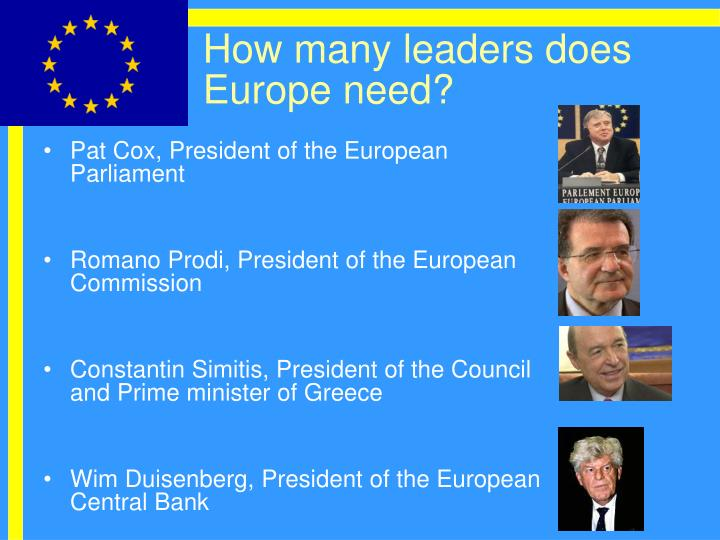 How many leaders does Europe need?
