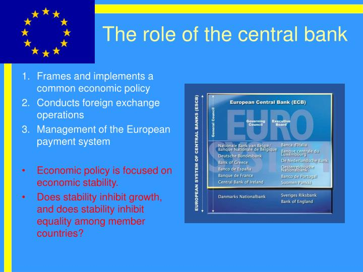 The role of the central bank