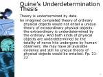 quine s underdetermination thesis