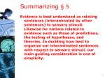 summarizing 5