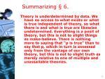 summarizing 6