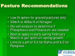 pasture recommendations