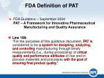 fda definition of pat