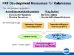 pat development resources for kalamazoo