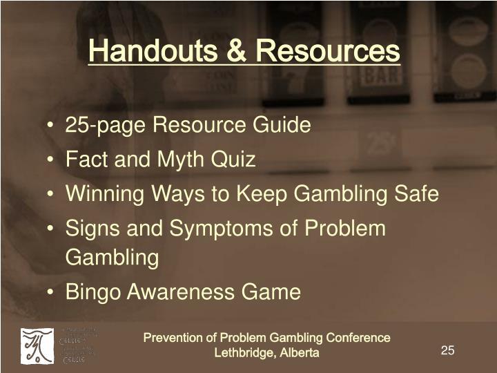Handouts & Resources