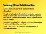 forming close relationships11