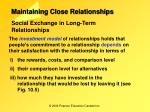 maintaining close relationships1