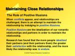 maintaining close relationships12