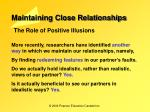 maintaining close relationships13