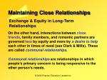 maintaining close relationships7