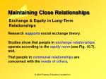 maintaining close relationships8