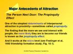 major antecedents of attraction1