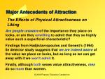 major antecedents of attraction12