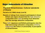 major antecedents of attraction18