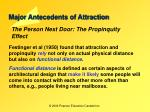 major antecedents of attraction2