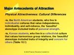 major antecedents of attraction25