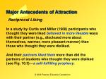 major antecedents of attraction9