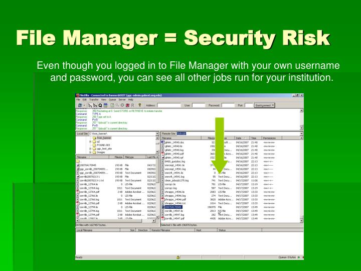 File Manager = Security Risk