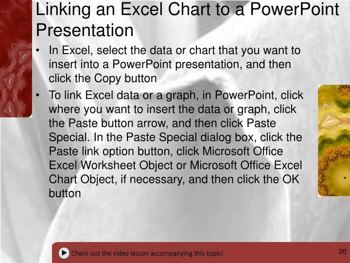 Linking an Excel Chart to a PowerPoint Presentation