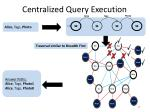 centralized query execution