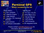 personal gps what s included in the kit