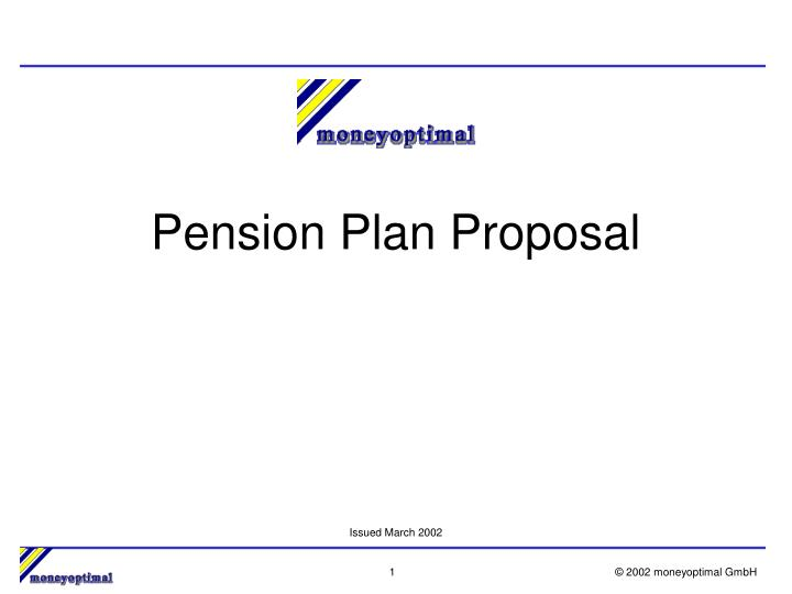 pension plan proposal n.