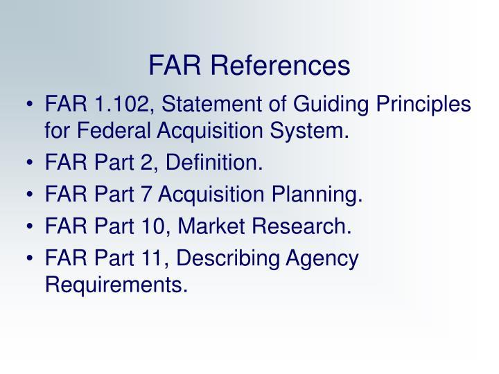 FAR References