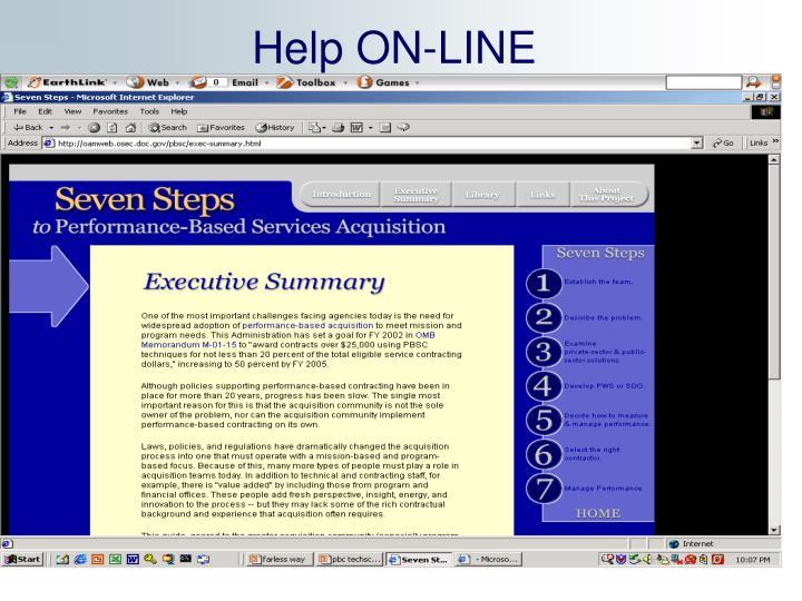 Help ON-LINE