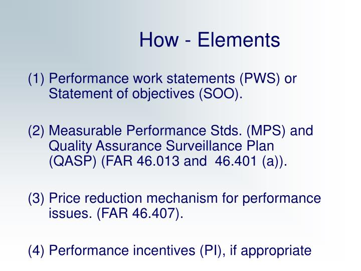 How - Elements