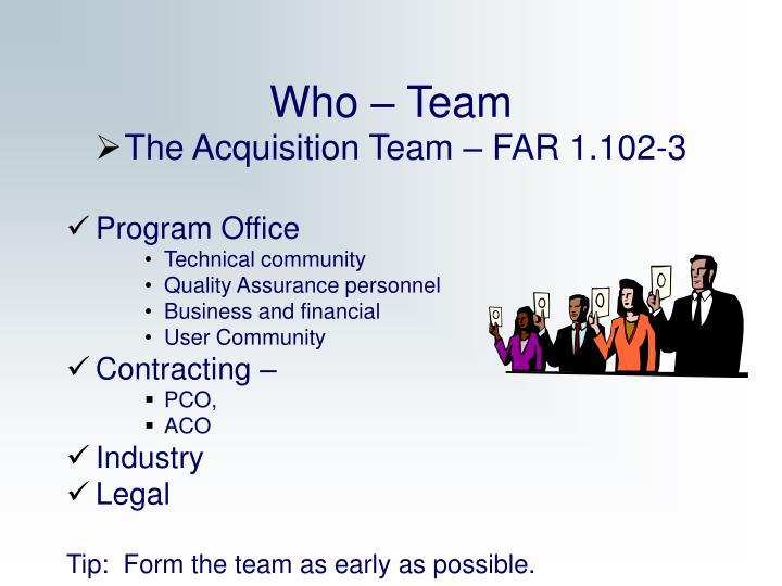Who – Team