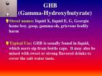 ghb gamma hydroxybutyrate