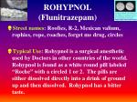 rohypnol flunitrazepam