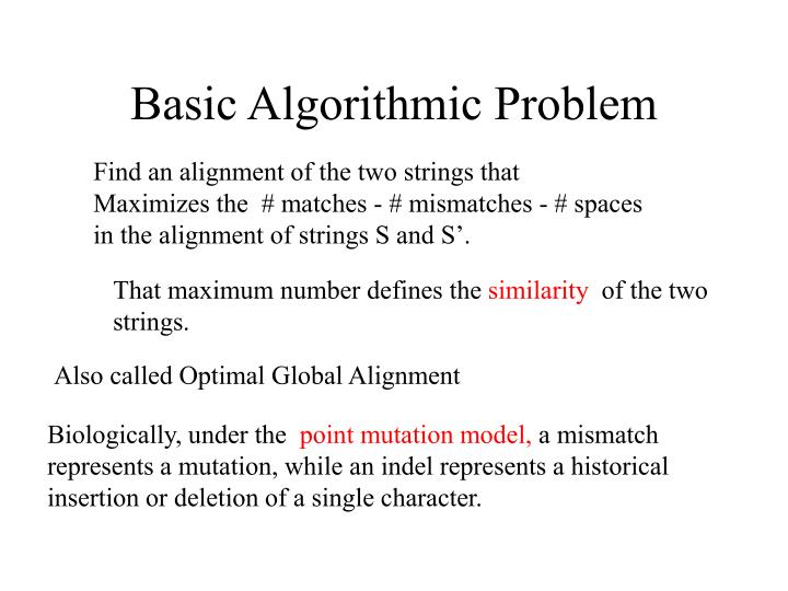 Basic Algorithmic Problem