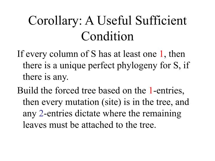 Corollary: A Useful Sufficient Condition