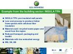 example from the building sector insula tfh