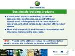 sustainable building products