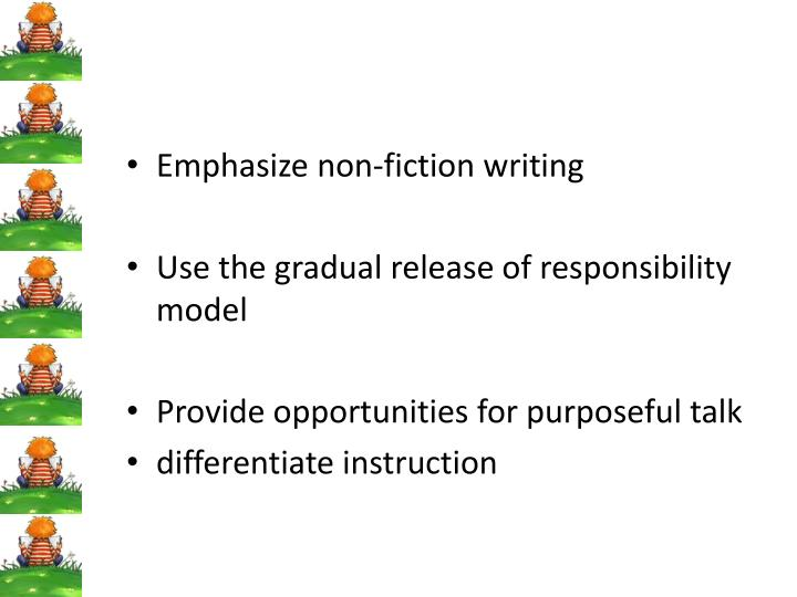 Emphasize non-fiction writing