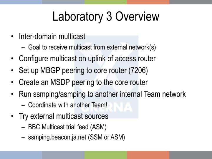 Laboratory 3 overview