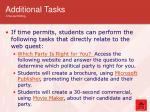 additional tasks time permitting